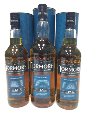 Lot 303-TWO BOTTLES AND ONE LITRE OF TORMORE 12 YEARS OLD