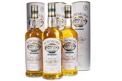 Lot 304-THREE BOTTLES OF BOWMORE LEGEND
