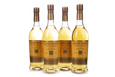 Lot 308-FOUR BOTTLES OF GLENMORANGIE 10 YEARS OLD