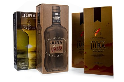 Lot 311-ONE LITRE AND THREE BOTTLES OF JURA 10 YEARS OLD
