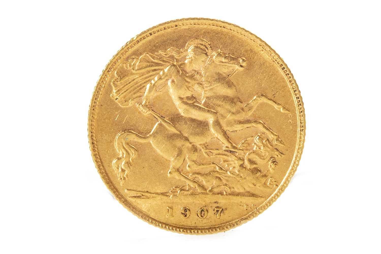 Lot 502-A GOLD HALF SOVEREIGN, 1907