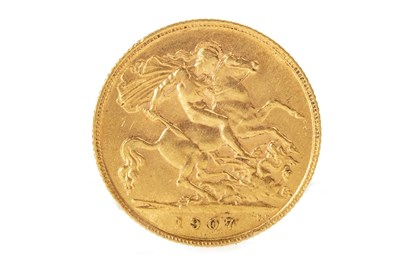 Lot 502-A GOLD HALF SOVEREIGN, 1907