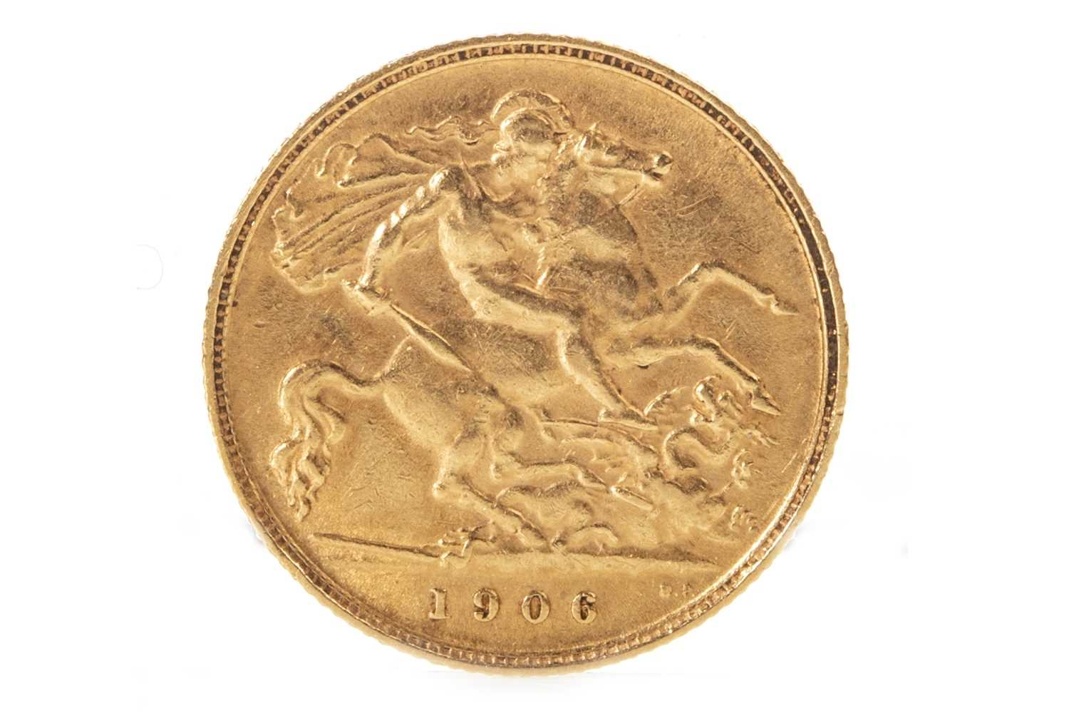 Lot 503-A GOLD HALF SOVEREIGN, 1906