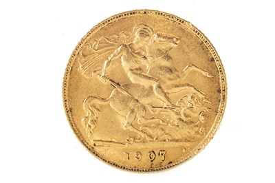 Lot 504-A GOLD HALF SOVEREIGN, 1907