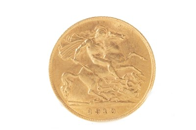 Lot 505-A GOLD HALF SOVEREIGN, 1910