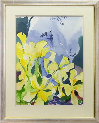 Lot 540-STILL LIFE WITH FLOWERS, A WATERCOLOUR BY JENNIE TUFFS
