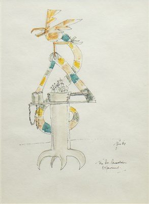 Lot 543-THE EXPERIMENT, A PEN STUDY BY GEORGE WYLLIE
