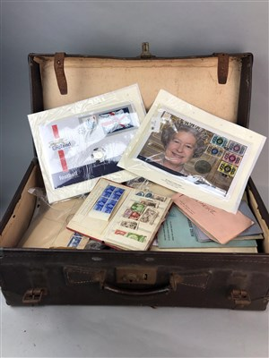 Lot 42-A LOT OF STAMPS AND COINS