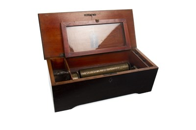 Lot 1423-AN EARLY 20TH CENTURY LEVER WIND MUSIC BOX