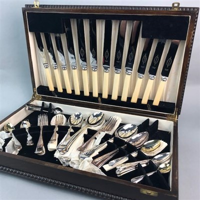 Lot 38-A CANTEEN OF CUTLERY GIFTED BY HARRY LAUDER
