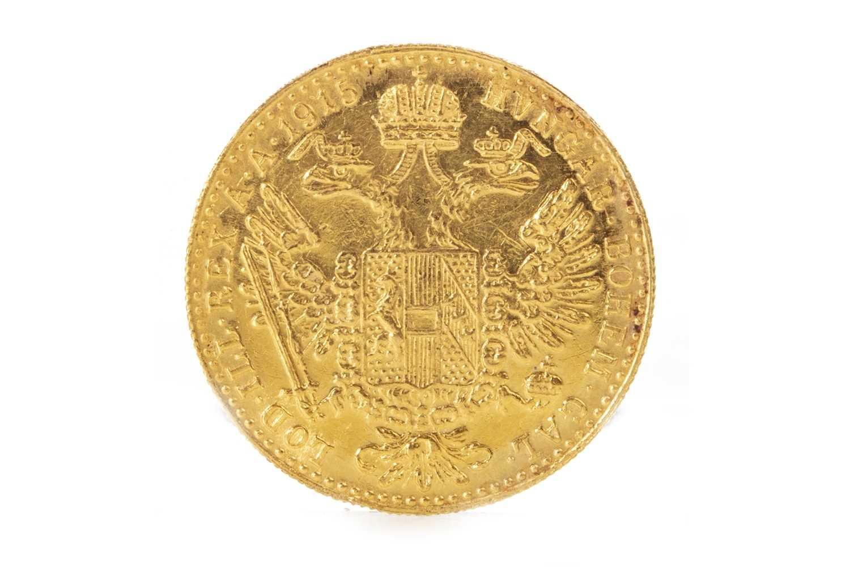 Lot 509-A GOLD AUSTRIAN COIN DATED 1915