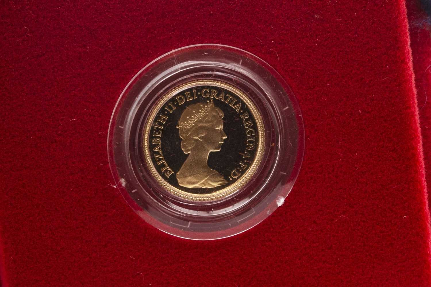 Lot 501-A GOLD PROOF HALF SOVEREIGN, 1980