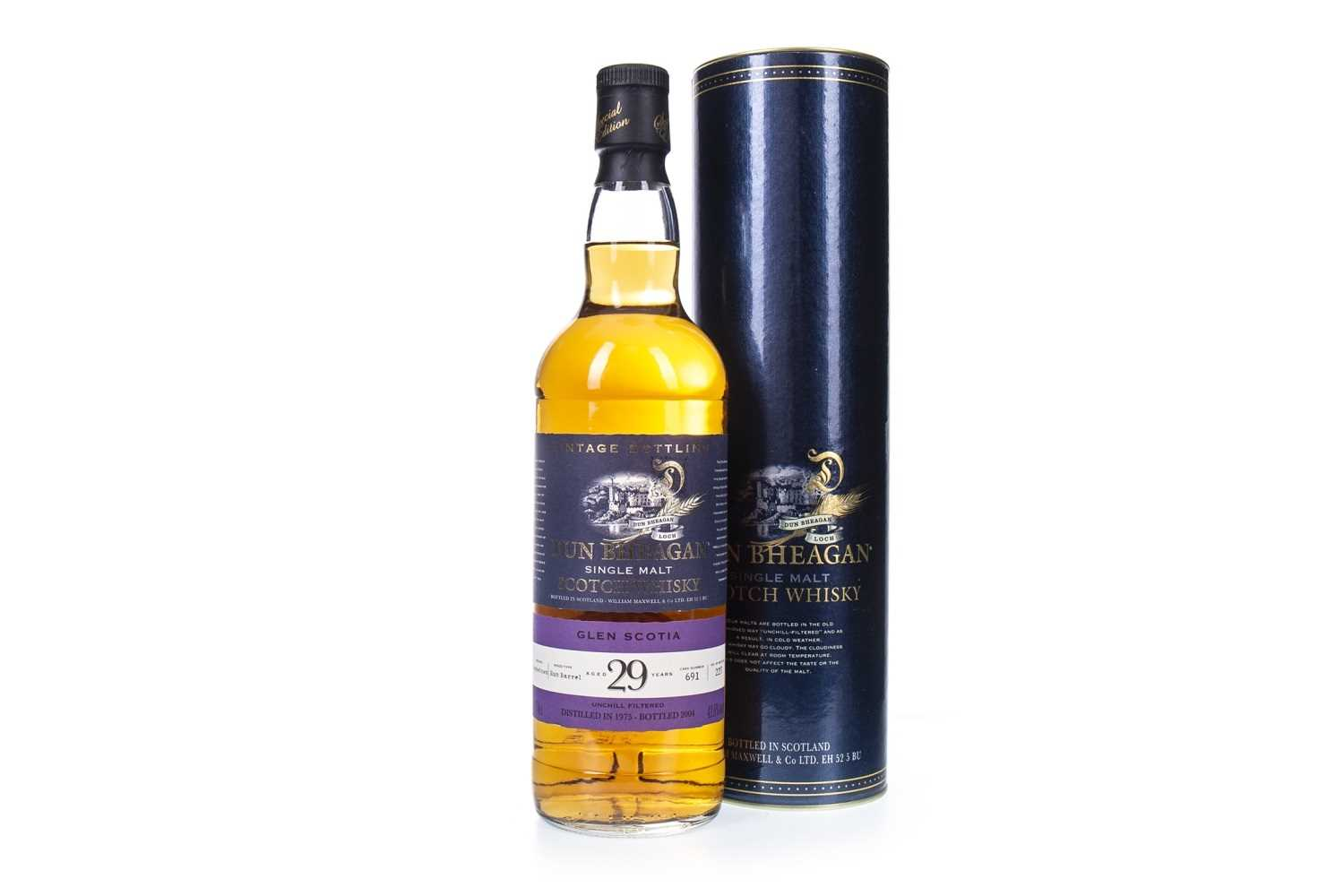Lot 18-GLEN SCOTIA 1975 DUN BHEGAN AGED 29 YEARS