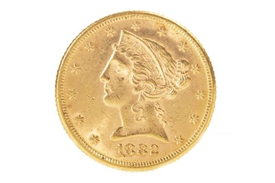 Lot 512-A USA FIVE DOLLAR GOLD COIN, 1882