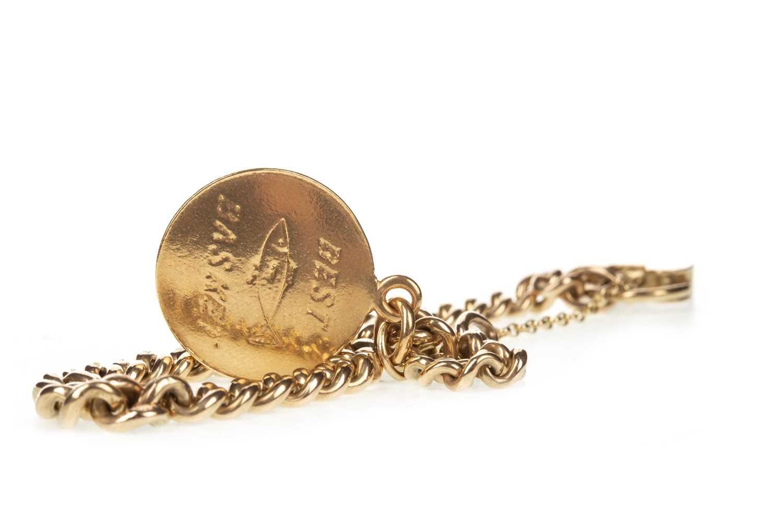 Lot 5-A GOLD BRACELET