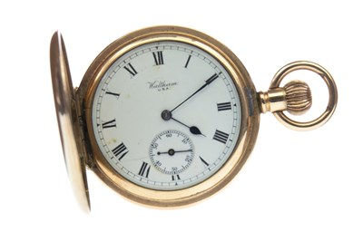 Lot 769-A WALTHAM CARAT GOLD PLATED POCKET WATCH