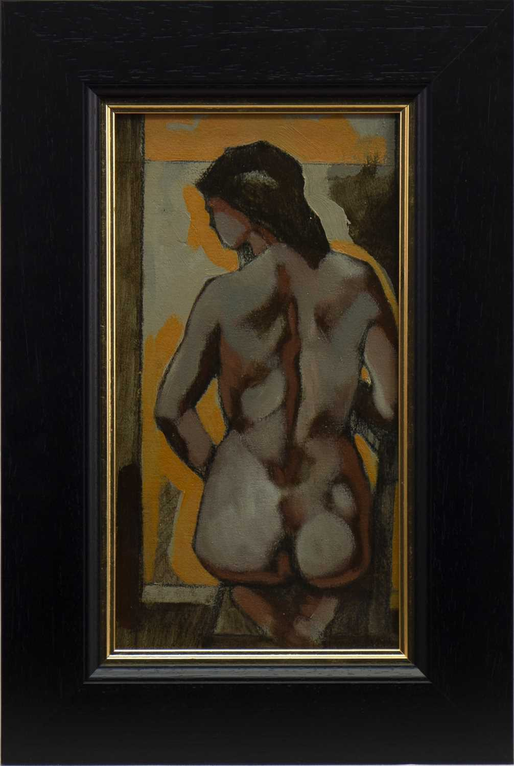 Lot 554-FEMALE NUDE, AN OIL BY JAMIE O'DEA