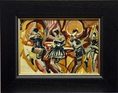 Lot 557-BURLESQUE, A MIXED MEDIA BY JAMIE O'DEA