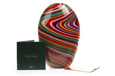 Lot 1246-A MURANO GLASS VASE BY SEGUSO VIRO