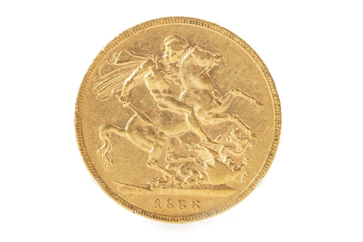 Lot 515-A GOLD SOVEREIGN, 1886