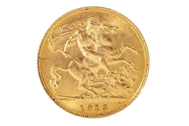 Lot 518-A GOLD HALF SOVEREIGN, 1915