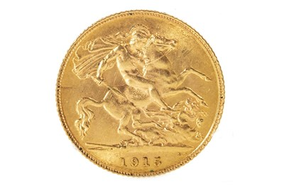 Lot 518-A GOLD HALF SOVEREIGN, 1915