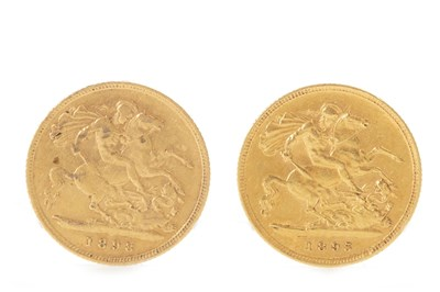 Lot 519-TWO GOLD HALF SOVEREIGNS, 1895 AND 1898