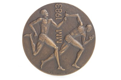 Lot 1910-A BRONZE MEDAL FROM THE FIRST WORLD ATHLETICS CHAMPIONSHIPS 1983