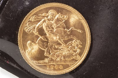 Lot 544-A GOLD SOVEREIGN, 1964