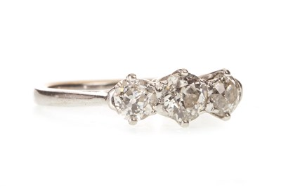 Lot 16-A DIAMOND THREE STONE RING