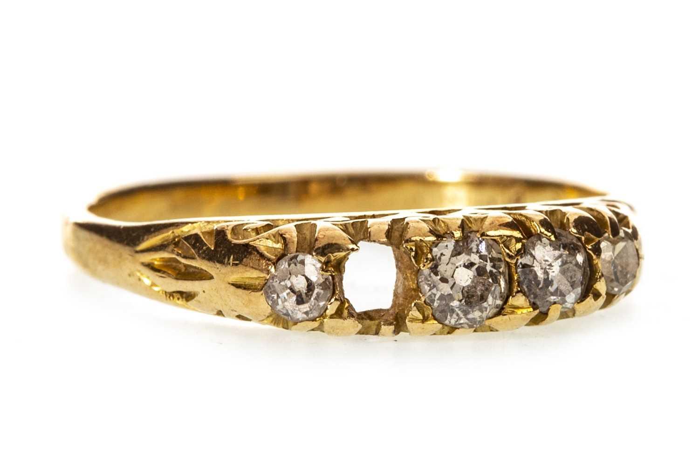 Lot 20-A VICTORIAN DIAMOND RING