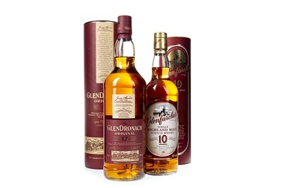 Lot 313-GLENDRONACH ORIGINAL AGED 12 YEARS AND GLENFARCLAS 10 YEARS OLD