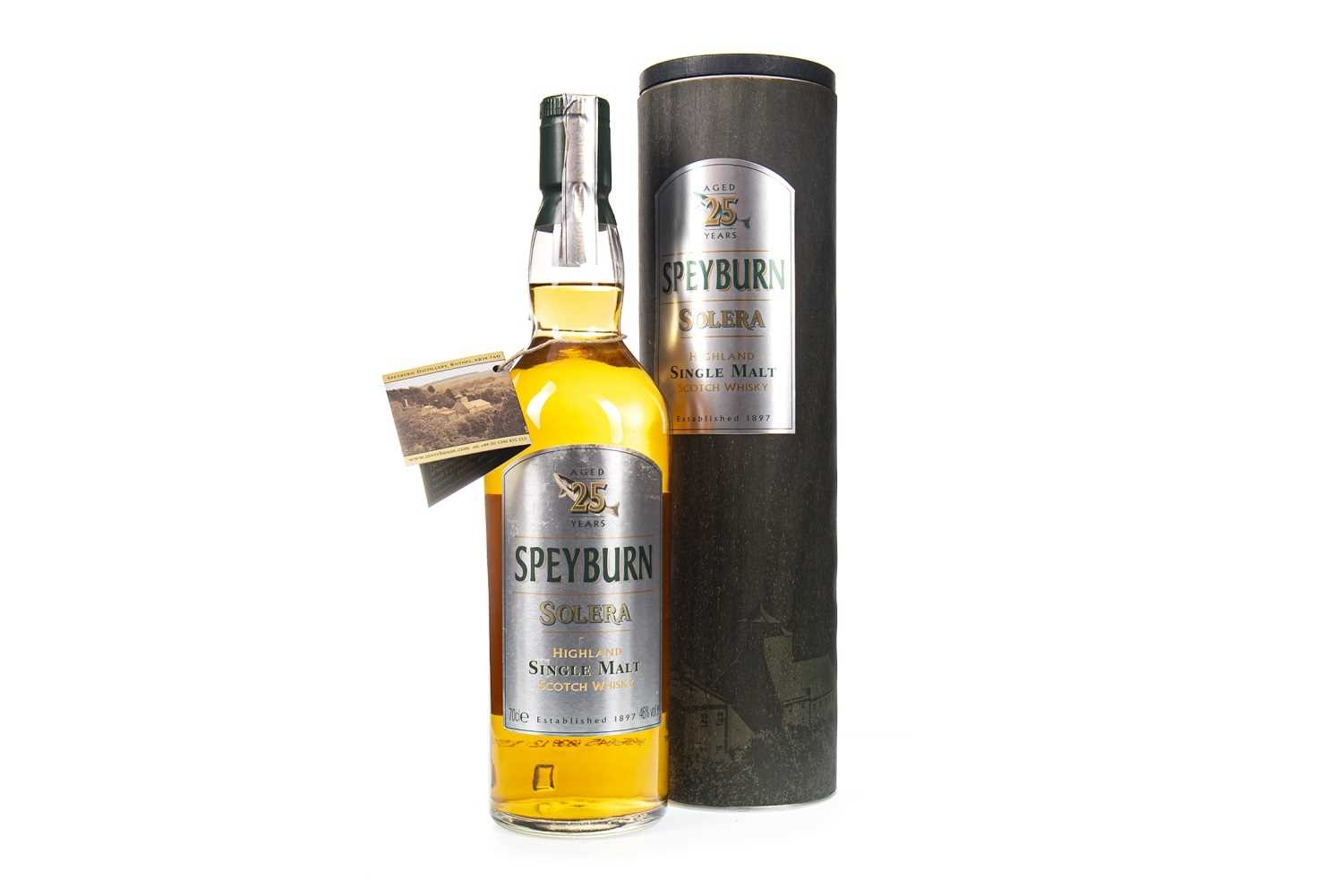 Lot 315-SPEYBURN SOLERA AGED 25 YEARS