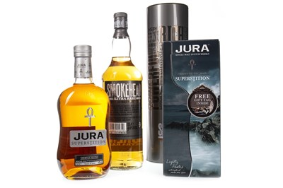 Lot 318-JURA SUPERSTITION AND SMOKEHEAD EXTRA RARE