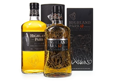 Lot 322-HIGHLAND PARK EINAR AND 12 YEARS OLD
