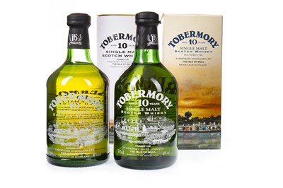 Lot 328-TWO BOTTLES OF TOBERMORY AGED 10 YEARS