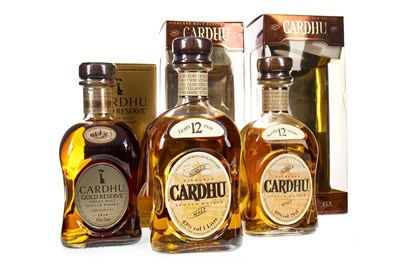 Lot 331-ONE LITRE AND BOTTLE OF CARDHU 12 YEARS OLD, AND CARDHU GOLD RESERVE