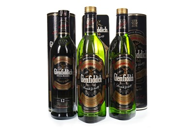 Lot 337-TWO BOTTLES OF GLENFIDDICH SPECIAL OLD RESERVE AND ONE GLENFIDDICH SPECIAL RESERVE 12 YEARS OLD