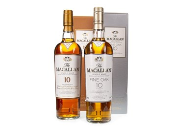 Lot 338-MACALLAN 10 YEARS OLD AND FINE OAK 10 YEARS OLD