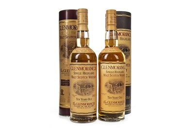 Lot 339-TWO BOTTLES OF GLENMORANGIE 10 YEARS OLD