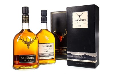 Lot 346-TWO LITRE BOTTLES OF DALMORE 12 TEARS OLD