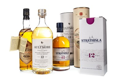 Lot 350-GLEN DEVERON 1978 AGED 12 YEARS, STRATHISLA 12 YEARS OLD AND AULTMORE AGED 12 YEARS