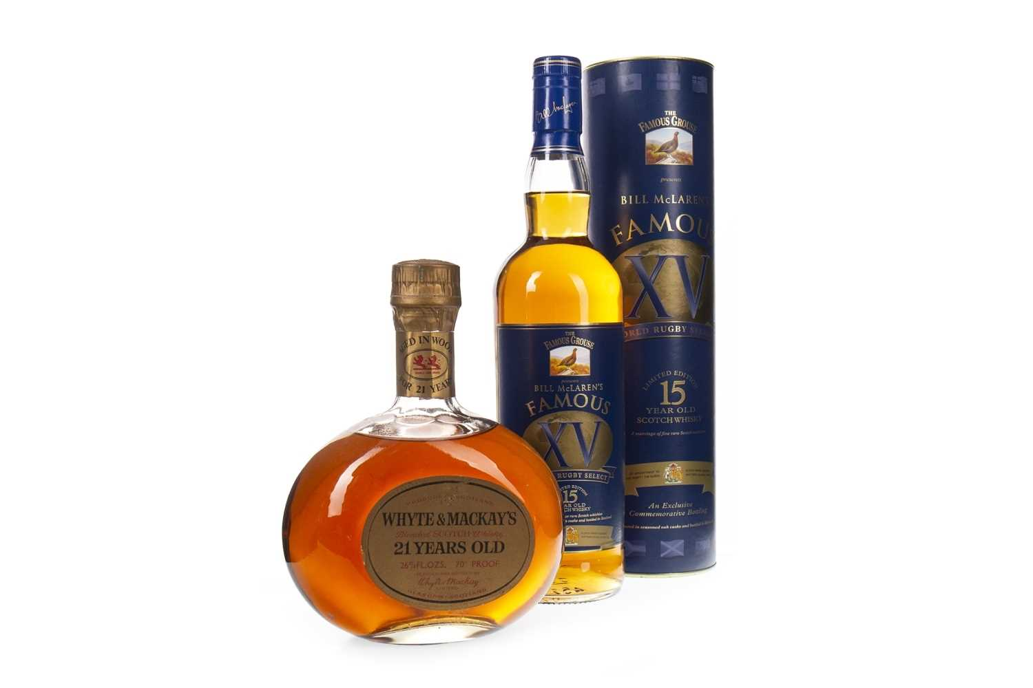 Lot 407-FAMOUS GROUSE 15 YEARS OLD AND WHYTE & MACKAY 21 YEARS OLD