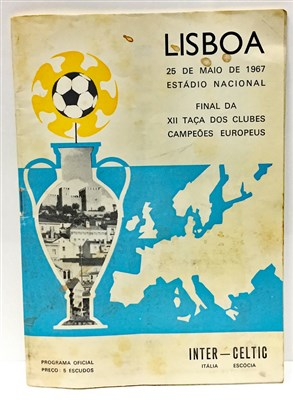 Lot 1920-A CELTIC V INTER MILAN EUROPEAN CUP FINAL PROGRAMME 1967