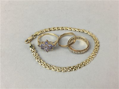 Lot 55-A LOT OF GOLD, SILVER AND OTHER JEWELLERY
