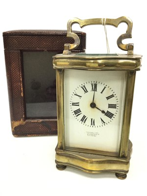 Lot 1445-AN EARLY 20TH CENTURY CARRIAGE CLOCK