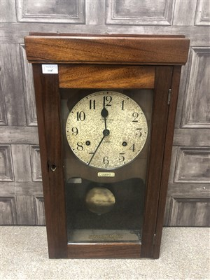 Lot 1447-AN EARLY 20TH CENTURY SYNCHROMATIC TIME SYSTEMS WALL CLOCK
