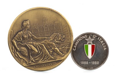 Lot 1962-A CAMPIONE D'ITALIA 1988-89 ENAMELLED MEDAL AND ANOTHER