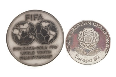Lot 1963-REFEREE BRIAN MCGINLAY - HIS UEFA EUROPEAN CHAMPIONSHIP 1980 MEDAL AND TWO OTHERS