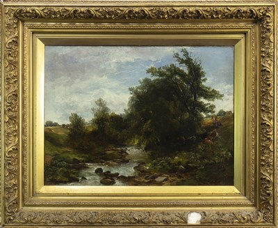 Lot 427-ON THE WATER OF LEITH, AN OIL BY JOHN CRAWFORD WINTOUR